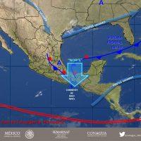 Se prevé ambiente caluroso en zona centro y chubascos para algunos estados de México