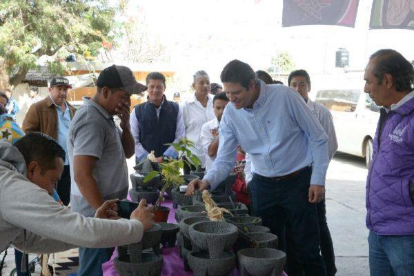 Alfonso Martínez inaugura 3er Feria del Molcajete en Morelia