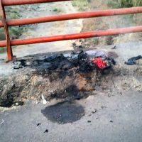 Cuerpo calcinado abandonado en Apatzingán es identificado por familiares