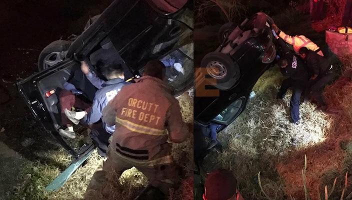 Tres tripulantes heridos tras caer en su automóvil a un canal en Morelia