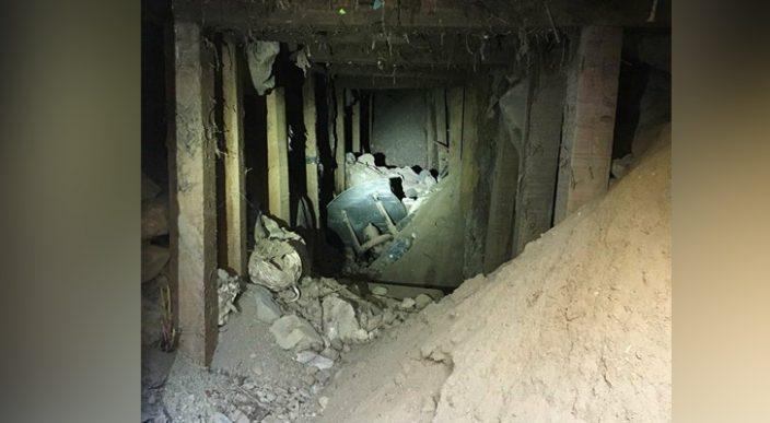 Encuentran túnel por donde se presume ingresaban indocumentados y droga a EU