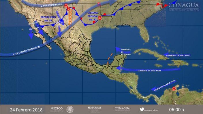 Prevalecerán fuertes lluvias en gran parte del territorio mexicano
