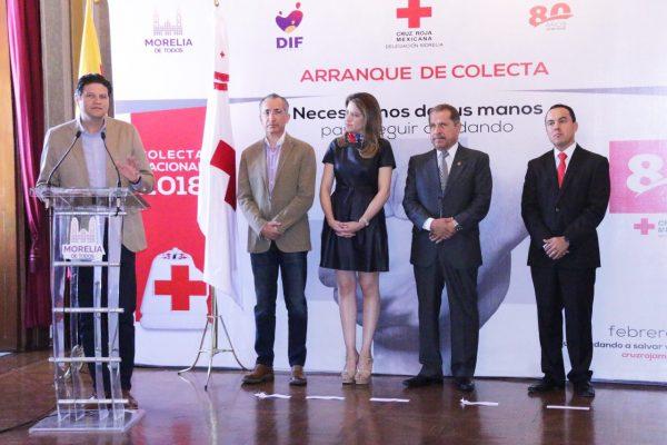 Ayuntamiento de Morelia llama a la ciudadanía a sumarse a la colecta de la Cruz Roja 2018