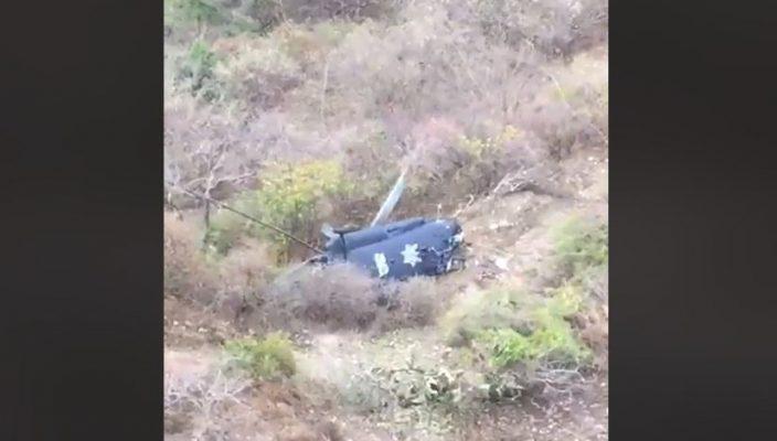 Por error humano, desplome de helicóptero de PF