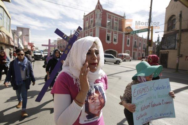 familiares de mujeres desaparecidas y asesinadas en Ciudad Juárez, Chihuahua protestan