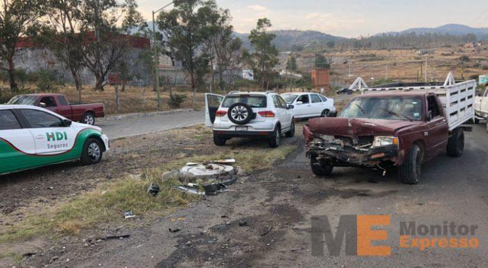 Se registran múltiples accidente en la capital Michoacana
