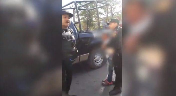Fuerza Civil detiene a niño por presunto robo