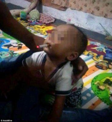 Hombre pisará la cárcel por publicar foto de su hijo con un cigarrillo en la boca