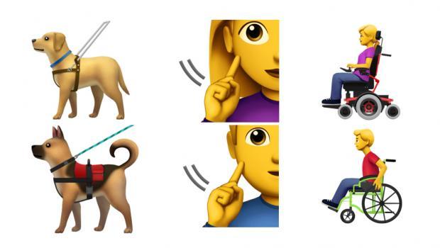 Apple crea emojis para personas con discapacidad
