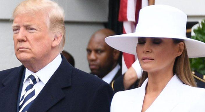 El distanciamiento entre Melania y Donald Trump cada vez más evidente