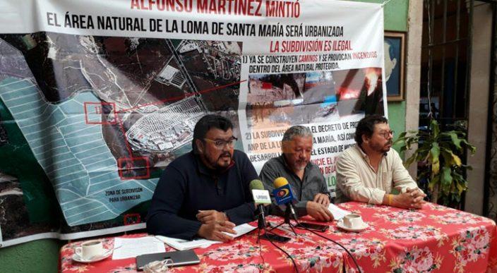 Documentos oficiales señalan polígono protegido de La Loma, Alfonso Martínez lo niega: MCDL