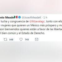 Meade le ofrece un lugar a Margarita Zavala en un tuit