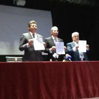 SPUM, SUEUM y rector signan histórico acuerdo en defensa de la Universidad Michoacana