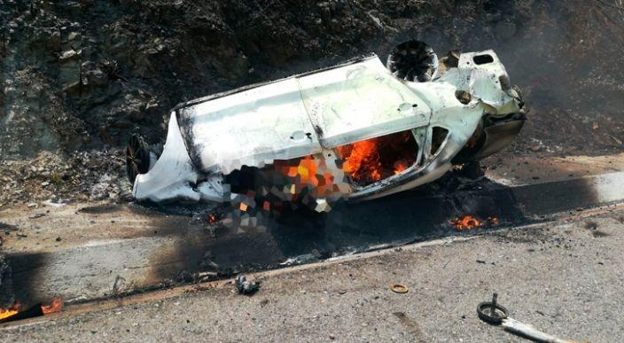 Fatal accidente deja tres muertos en carretera a Infiernillo, Michoacán
