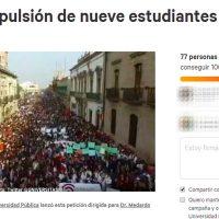 Lanzan petición en Change.org al Rector de la UMSNH que pide no expulsar a 9 alumnos
