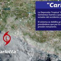 """Lluvias en gran parte de México por """"Carlotta"""" y las ondas tropicales no. 4 y 5."""