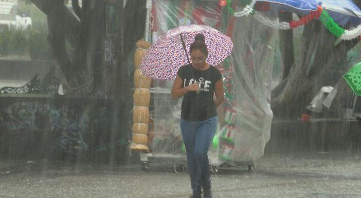 Se prevén lluvias puntuales muy fuertes en Oaxaca y Chiapas, e intensas en Tabasco