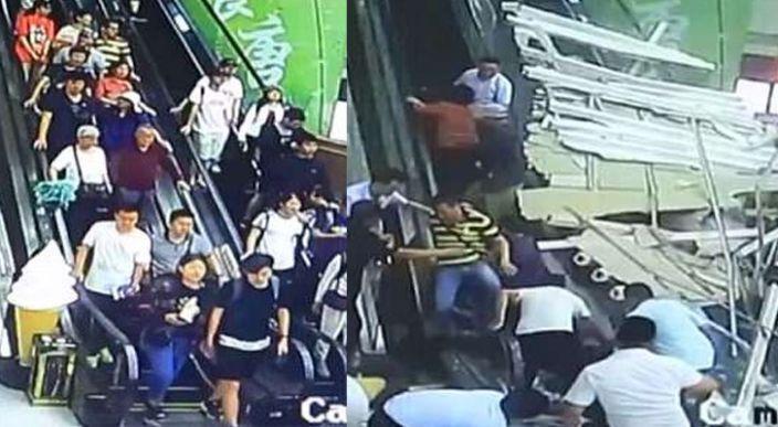 Un techo colapsa sobre turistas en China — Aterradoras imágenes