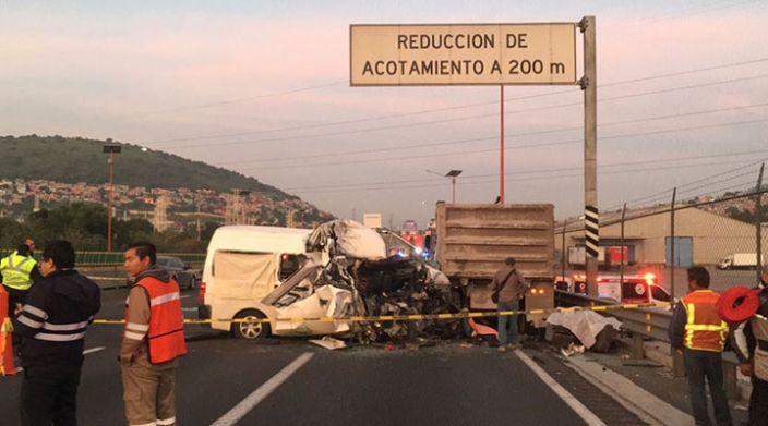 Accidente en la autopista México-Pachuca deja 12 fallecidos y 10 lesionados