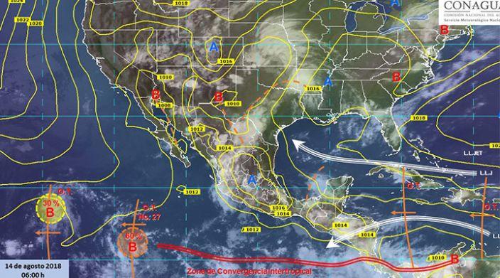 Continúan lluvias con actividad eléctrica en gran parte del país