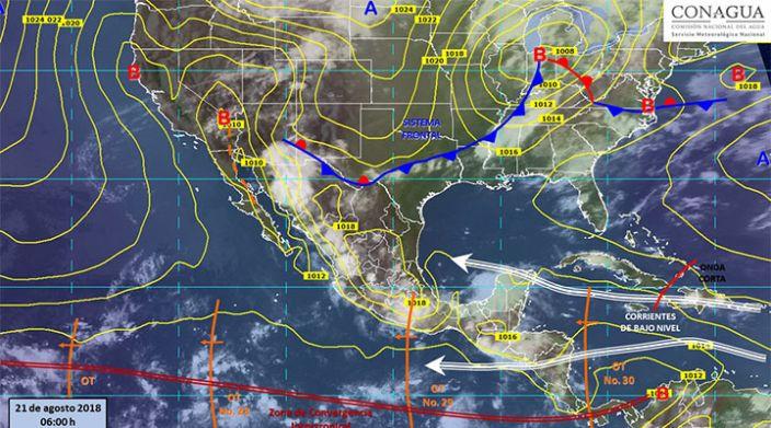 Continúan tormentas puntuales muy fuertes e intensas en gran parte del país