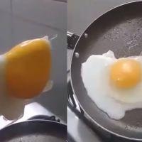 Buscó prepararse un huevo, pero resultó estar hecho de plástico