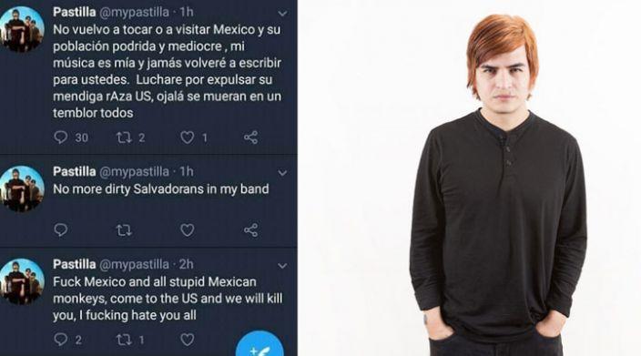 """""""No vuelvo a visitar México y su población podrida ojalá se mueran en un temblor"""", vocalista de Pastilla"""
