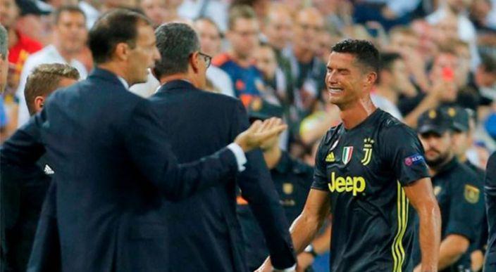 Cristiano Ronaldo llora tras expulsión de su primer partido de Champions con la Juventus