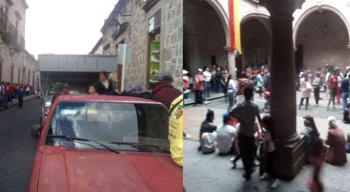 Recolectores de basura se manifiestan en el Ayuntamiento de Morelia