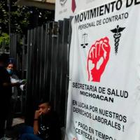 Diputados federales, esperanza de trabajadores de Salud Michoacán para lograr recursos extraordinarios
