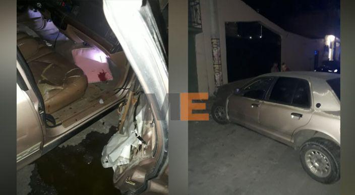 En Zitácuaro, un automovilista choca contra un poste, queda lesionado