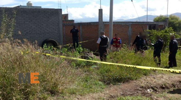Encuentran a una persona muerta en la colonia Ciudad Jardín de Morelia