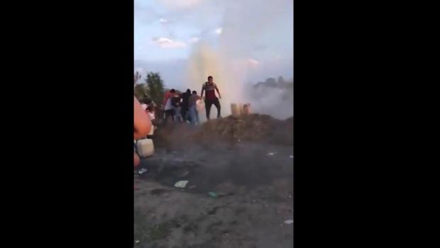"""Filtran video previo a la explosión en Tlalhuelilpan """"Pa' que no les cuenten P***"""""""