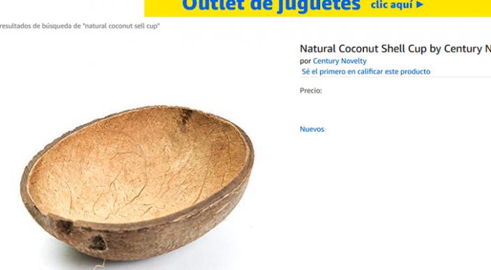 Amazon vende cascaras de coco por 374 pesos y la demanda crece