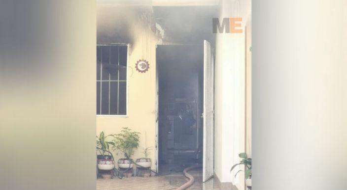 Se registra un incendio en el fraccionamiento Villas de la Loma de Morelia, no hubo lesionados