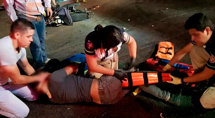 Jalisciense lesionado al ser embestido por auto desconocido en Zamora, Michoacán