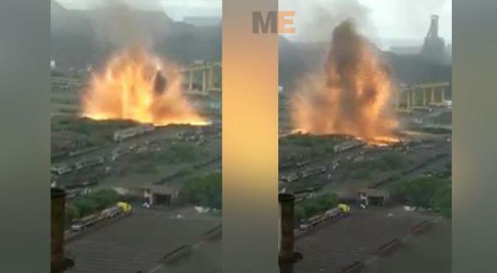 Impresionante explosión se registra en empresa de acero en Lázaro Cárdenas, Michoacán