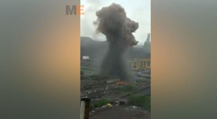 Se registra fuerte explosión en acerera de Michoacán