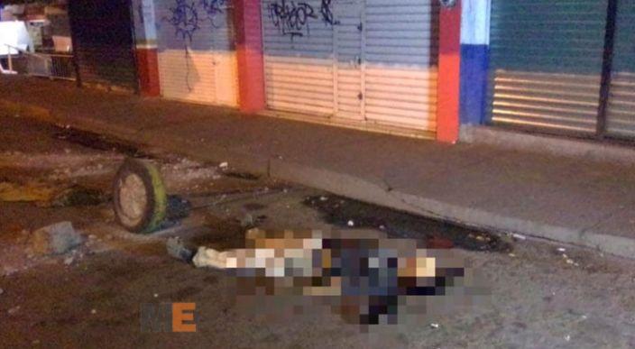 Encuentran muerto a un hombre con un balazo en la cabeza, traía una pistola fajada a la cintura, en Uruapan, Michoacán