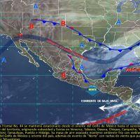 Ambiente frío en el Golfo de México y oriente del país, cielo medio nublado y ambiente cálido en el centro del territorio nacional