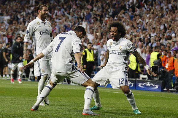 Cristiano, Marcelo y Sergio Ramos,