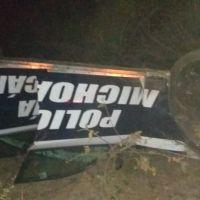 Volcadura en Angamacutiro deja 3 elementos de la Policía Michoacán heridos