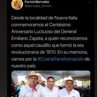 Diputado de Morena lleva a Emiliano Zapata a la época de la Independencia