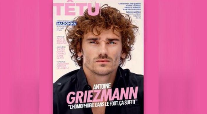 Antoine Griezmann aparece en portada de revista, en apoyo a la comunidad LGBT