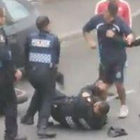 Dos policías heridos en una pelea con motociclista y su acompañante en CDMX (Video)