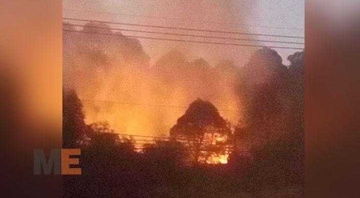 Ahora también incendian el Cerro de la Cruz, en Uruapan, Michoacán