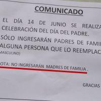 Escuela en Perú prohíbe asistir a madres solteras a evento del Día del Padre