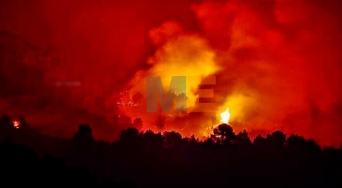 Fuerte incendio forestal se registró en la Tenencia de Buenos Aires, en LC Michoacán