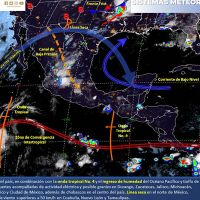 Tormentas fuertes en el norte, occidente, centro y sur de México, hoy por la tarde