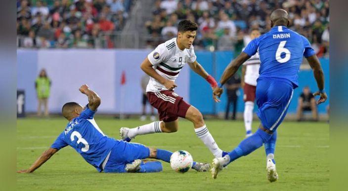 México pasa  como primer lugar de grupo al ganar apenas 3-2 a Martinica
